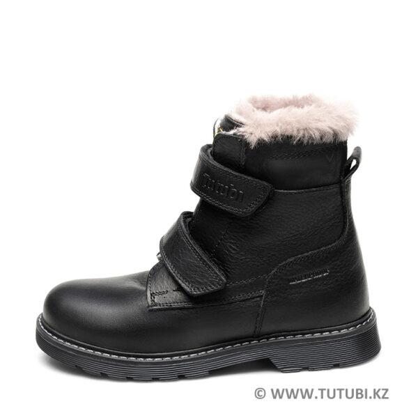 Ботинки из натурального меха и кожи черные MP002XB00SRER