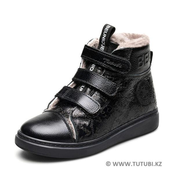 Ботинки из натурального меха и кожи черные MP002XG01DITR