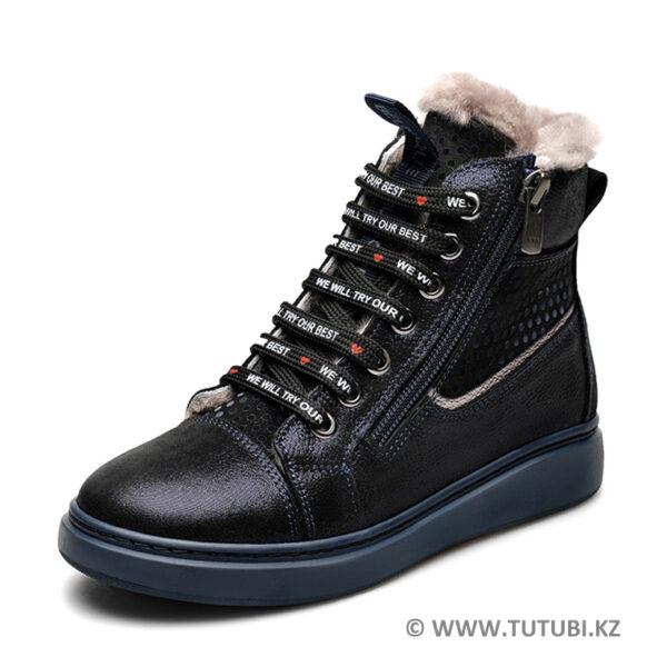 Ботинки из натурального меха и нубука черные MP002XG01DIRR