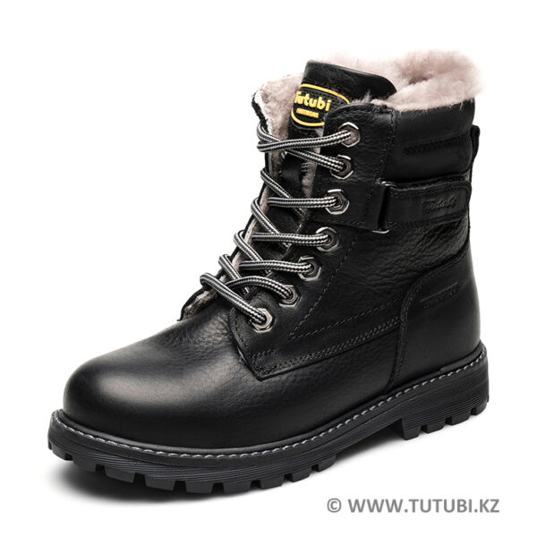 Ботинки из натурального меха и кожи черные MP002XB00SRAR MP002XB00SR9R