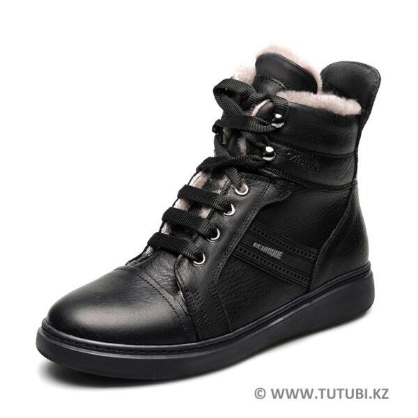 Ботинки из натурального меха и кожи черные MP002XB00SROR