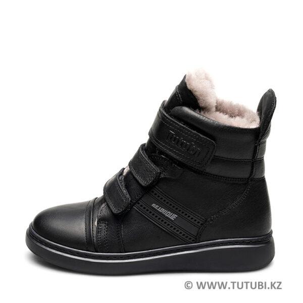 Ботинки из натурального меха и кожи черные MP002XB00SRDR