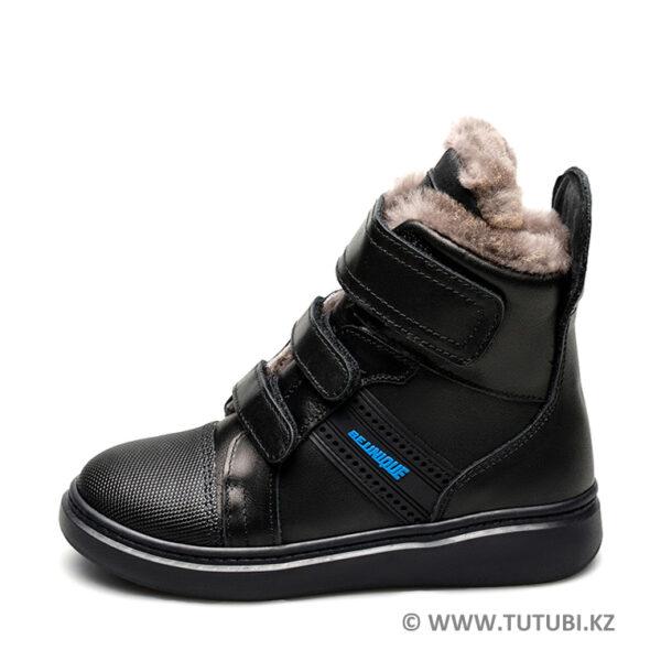 Ботинки из натурального меха и кожи черные MP002XB00SRNR
