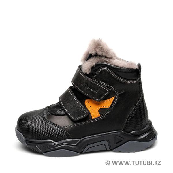 Ботинки из натурального меха и кожи черные MP002XB00SRLR260