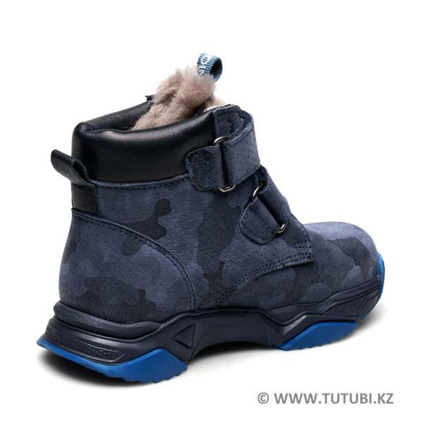Ботинки из натурального меха и нубука синие MP002XB00SRKR