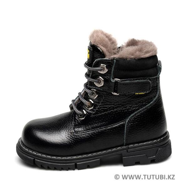 Ботинки из натурального меха и кожи черные MP002XB00SRIR MP002XB00SRHR