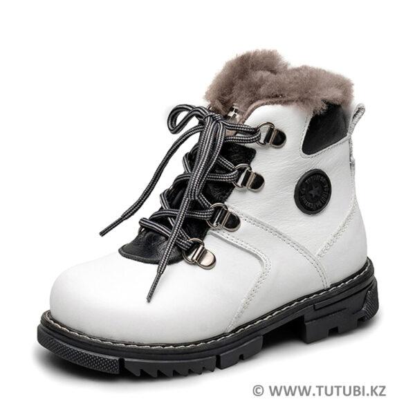 Ботинки из натурального меха и кожи белые MP002XG01DJ0R MP002XG01DIZR