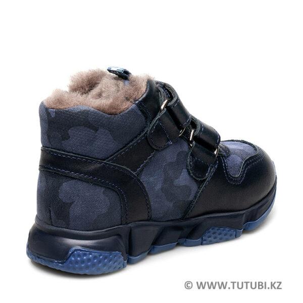 Ботинки из натурального меха и кожи синие MP002XB00SRFR