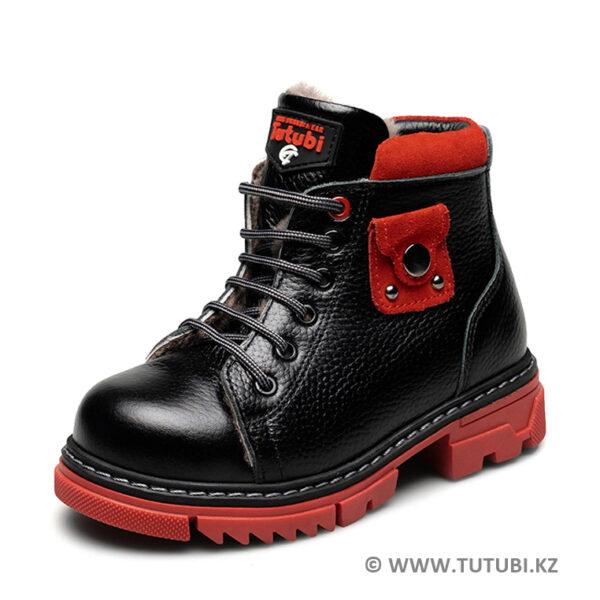 Ботинки из натурального меха и кожи черные MP002XG01DJ3R